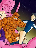 Fantastic Four superheroes give in to gay sex hunger